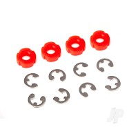 Piston, damper (Red) (4 pcs) / e-clips (8 pcs)