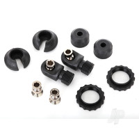 Caps & spring retainers, GTS shocks (upper cap (2 pcs) / hollow balls (4 pcs) / bottom cap (2 pcs) / upper retainer (2 pcs) / lower retainer (2 pcs))