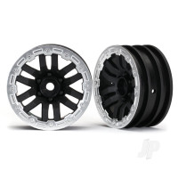 Wheels, TRX-4 1.9 (satin beadlock) (2pcs)