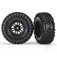 Tires and wheels, assembled, glued (TRX-4 wheels, Canyon Trail 1.9 tires) (2pcs)