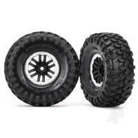 Tires and wheels, assembled, glued (TRX-4 satin beadlock wheels, Canyon Trail 1.9 tires) (2pcs)