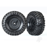Tyres & Wheels, assembled, glued (Tactical wheels, Canyon Trail 1.9 Tyres) (2pcs)