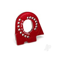 Motor mount plate, 6061-T6 aluminium (red-anodized)