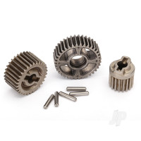 Gear set, transmission, metal (includes 18T, 30T input gears, 36T output gear, 2x9.8 pins (5pcs))