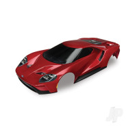 Body, Ford GT, red (painted, decals applied) (tail lights, exhaust tips, & mounting hardware (part #8314) sold separately)