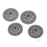 Wheel hubs, hex (disc brake rotors) (4pcs)
