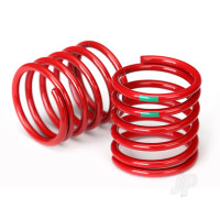 Spring, shock (red) (4.075 rate, green stripe) (2pcs)