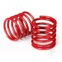 Spring, shock (red) (4.4 rate, black stripe) (2pcs)