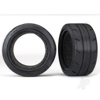 Tires, Response 1.9in Touring (extra wide, rear) / foam inserts (2pcs) (fits #8372 wide wheel)