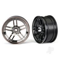 Wheels, 1.9in split-spoke (black chrome) (front) (2pcs)