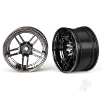 Wheels, 1.9in split-spoke (black chrome) (wide, rear) (2pcs)