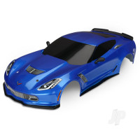 Body, Chevrolet Corvette Z06, blue (painted, decals applied)