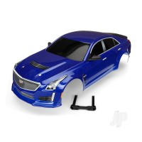 Body, Cadillac CTS-V, blue (painted, decals applied)