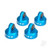 Shock caps, aluminium (blue-anodized), King shocks (4pcs)