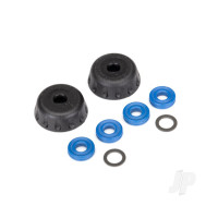Double seal kit, GTR shocks (x-rings (4pcs) / 4x6x0.5mm PTFE-coated washers (2pcs) / bottom caps (2pcs)) (renews 2 shocks)