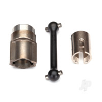 Driveshaft, center, front (steel) / 2.5x12 screw pin