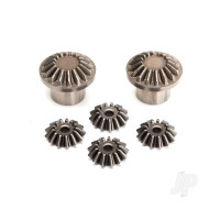 Gear set, rear Differential (output gears (2pcs) / spider gears (4pcs)) (#8581 required to build complete Differential)