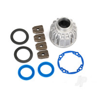 Carrier, Differential, aluminium (front or center) / x-ring gaskets (2pcs), ring gear gasket / 14.5x20 TW (2pcs)
