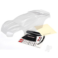 Body, E-Revo (clear, requires painting) / window, grille, lights decal sheet