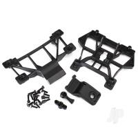 Body mounts, front & rear / 3x12mm CS (4pcs) / 3x12mm shoulder screw (2pcs) / 3x10mm flat-head machine screw (8pcs) / 3x12mm BCS (1pc)