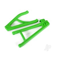Suspension arms, Green, Rear (right), heavy duty, adjustable wheelbase (upper (1pc) / lower (1pc))