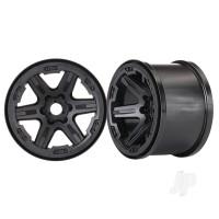 Wheels, 3.8in (black) (2pcs) (17mm splined)