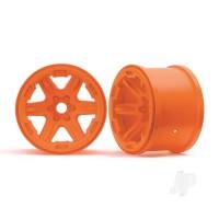 Wheels, 3.8in (orange) (2pcs) (17mm splined)