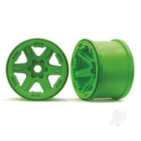 Wheels, 3.8in (green) (2pcs) (17mm splined)