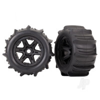 Tyres and Wheels, Assembled Glued 3.8in (2 pcs)