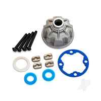 Carrier, Differential (Aluminium) / x-ring gaskets (2 pcs) / ring gear gasket / spacers (4 pcs) / 12.2x18x0.5 metal washer