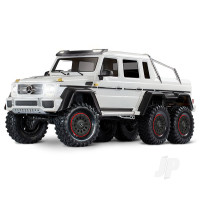 Metallic White TRX-6 Mercedes-Benz G 63 AMG 1:10 6X6 Electric Trail Truck RTD (+ TQi , XL-5 HV, Titan 550)
