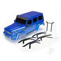 Body, Mercedes-Benz G 500 4x4_, complete (blue) (includes rear body post, grille, side mirrors, door handles, & windshield wipers)