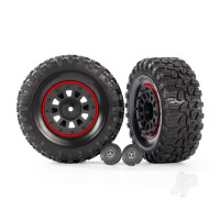 Tyres and Wheels, Assembled Glued 2.2in Tyres (2 pcs)