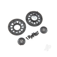 Center caps (2 pcs) / beadlock rings (2 pcs) (requires #8255A extended stub axle)