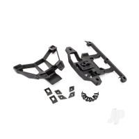 Body mounts, front & rear / 3x12mm BCS (1pc) / 3x12mm shoulder screw (2pcs) / 3x8mm CS (2pcs) / 3x15mm flat-head machine screw (9pcs)