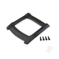 Skid plate, roof (body) (black) / 3x10mm CS (4pcs)