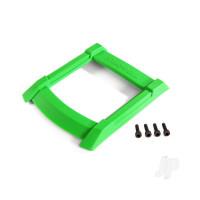 Skid plate, roof (body) (green) / 3x12mm CS (4pcs)