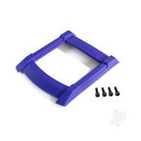 Skid plate, roof (body) (blue) / 3x12mm CS (4pcs)
