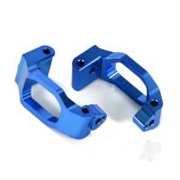 Caster blocks (c-hubs), 6061-T6 aluminium (blue-anodized), left & right / 4x22mm pin (4pcs) / 3x6mm BCS (4pcs) / retainers (4pcs)