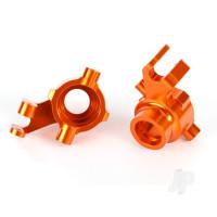Steering blocks, 6061-T6 aluminium (orange-anodized), left & right