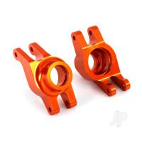 Carriers, stub axle (orange-anodized 6061-T6 aluminium) (rear) (2pcs)