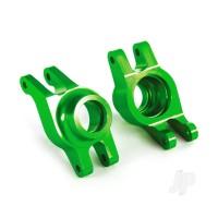 Carriers, stub axle (green-anodized 6061-T6 aluminium) (rear) (2pcs)