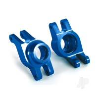 Carriers, stub axle (blue-anodized 6061-T6 aluminium) (rear) (2pcs)