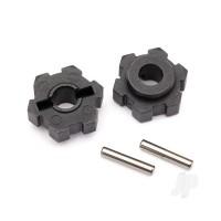 Wheel hubs, hex (2pcs) / 2.5x12 pins (2pcs)