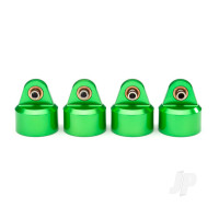 Shock caps, aluminium (green-anodized), GT-Maxx shocks (4pcs)