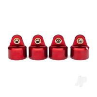 Shock caps, aluminium (red-anodized), GT-Maxx shocks (4pcs)