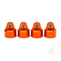 Shock caps, aluminium (orange-anodized), GT-Maxx shocks (4pcs)