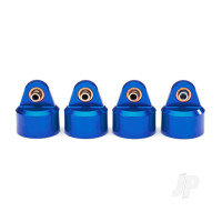 Shock caps, aluminium (blue-anodized), GT-Maxx shocks (4pcs)