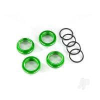 Spring retainer (adjuster), green-anodized aluminium, GT-Maxx shocks (4pcs) (assembled with o-ring)