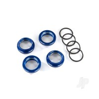 Spring retainer (adjuster), blue-anodized aluminium, GT-Maxx shocks (4pcs) (assembled with o-ring)